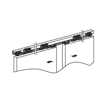 Medium Duty Opposite Synchronous Sliding Door Hardware1