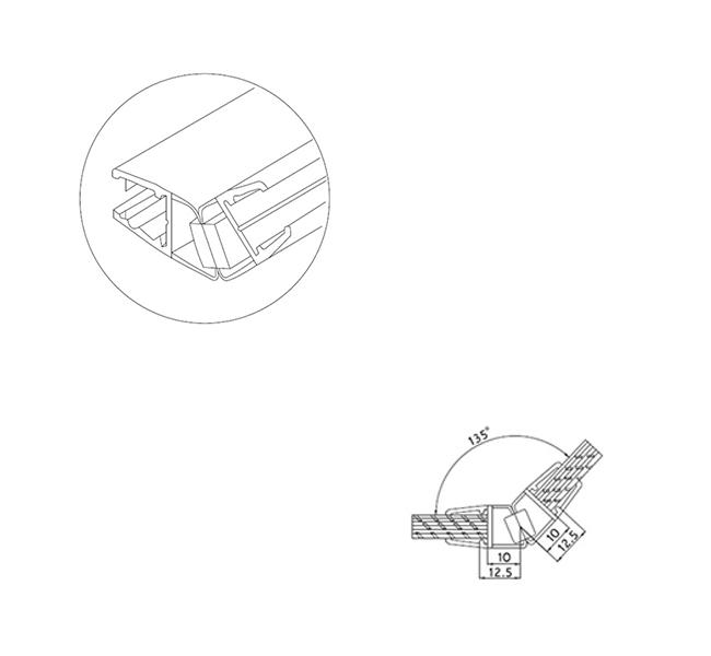Pvc 8 135 Degree Magnetic Sealing Strip Lawrence Hardware
